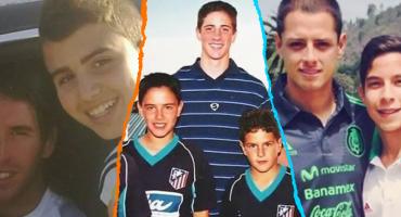 5 futbolistas que se tomaron una foto con sus ídolos antes de jugar con ellos