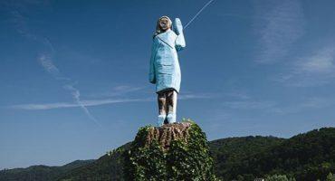¡No es broma! Esta escultura de Melania Trump pretende ser un homenaje
