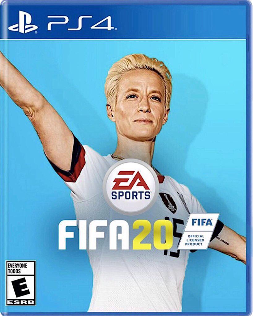Proponen a Megan Rapinoe como la nueva portada del FIFA 20