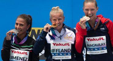¡Adriana Jiménez consiguió medalla de plata desde los 20 metros en Gwangju 2019!
