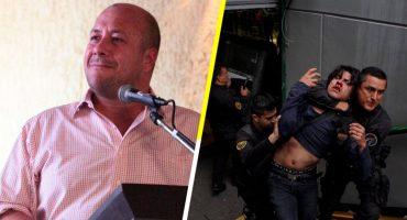#AlfaroRepresor: Gobernador de Jalisco reprime a jóvenes por protestar contra aumento del transporte público