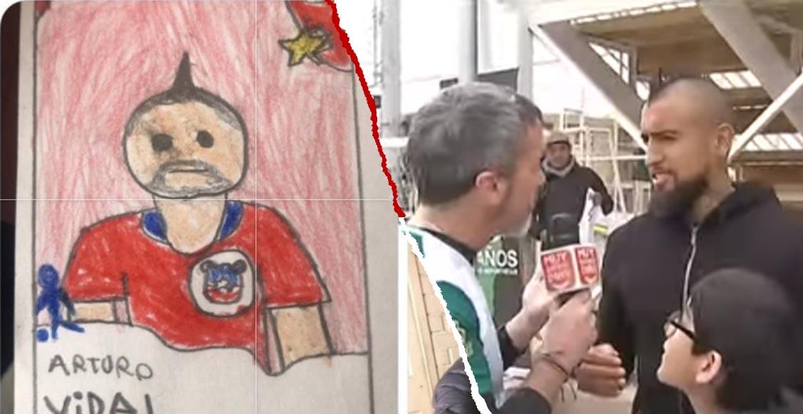 ¡Arturo Vidal conoció al niño que lo dibujó en su álbum de la Copa América!
