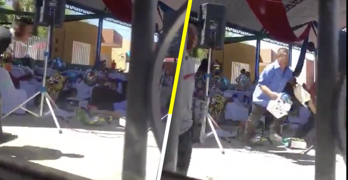 Video muestra cómo se vivió la balacera ocurrida afuera de un kínder de Puebla