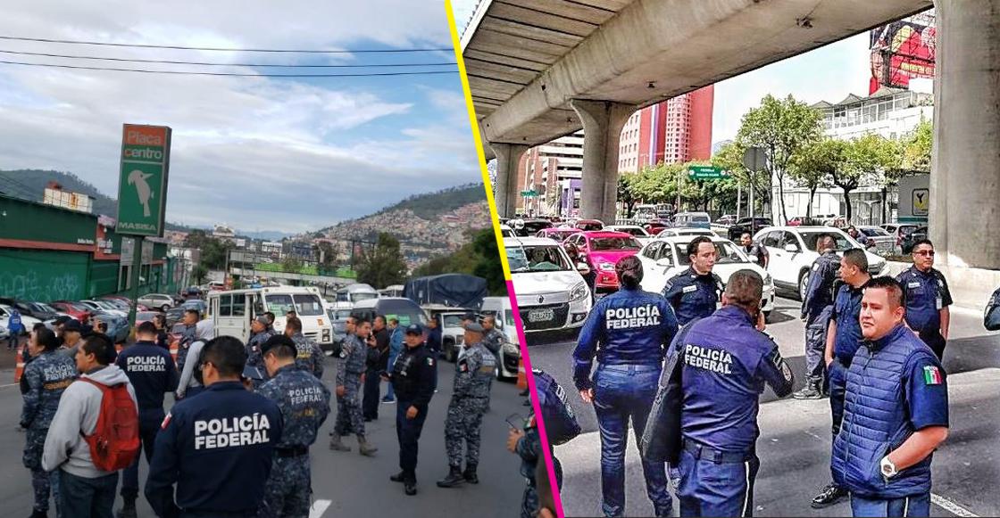 ¡Ojo! Policías federales realizan bloqueos en distintos puntos de CDMX