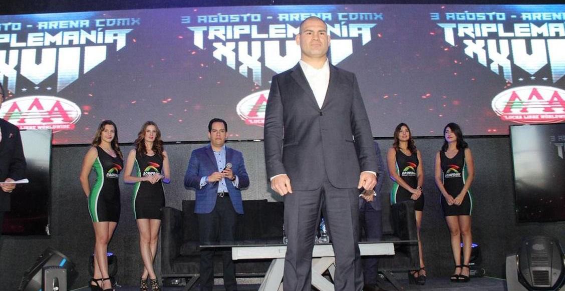 Caín Velásquez peleará junto a Psycho Clown y Cody Rodhes en Triplemania XXVII