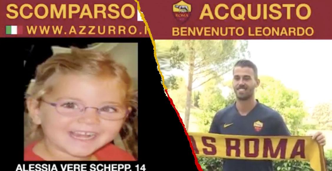 AS Roma ayudará a encontrar a niños desaparecidos por medio de sus fichajes