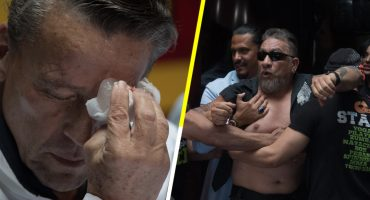 Aguanteeeen: Carlos Trejo le da un botellazo a Alfredo Adame en plena conferencia sobre su próxima pelea