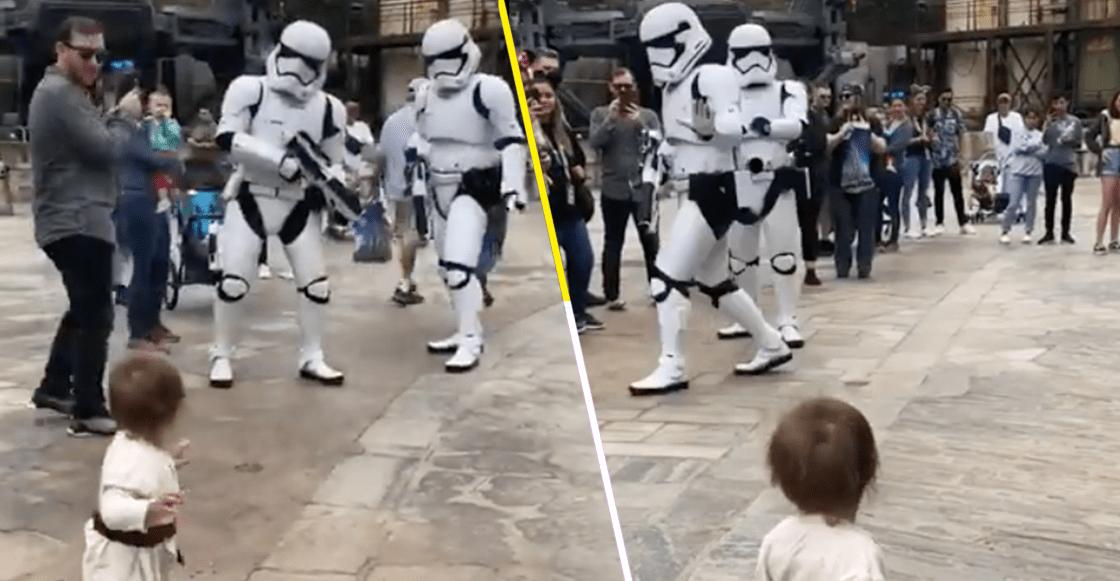 Mira la tierna reacción de este niño padawan cuando se encontró con los Stormtroopers
