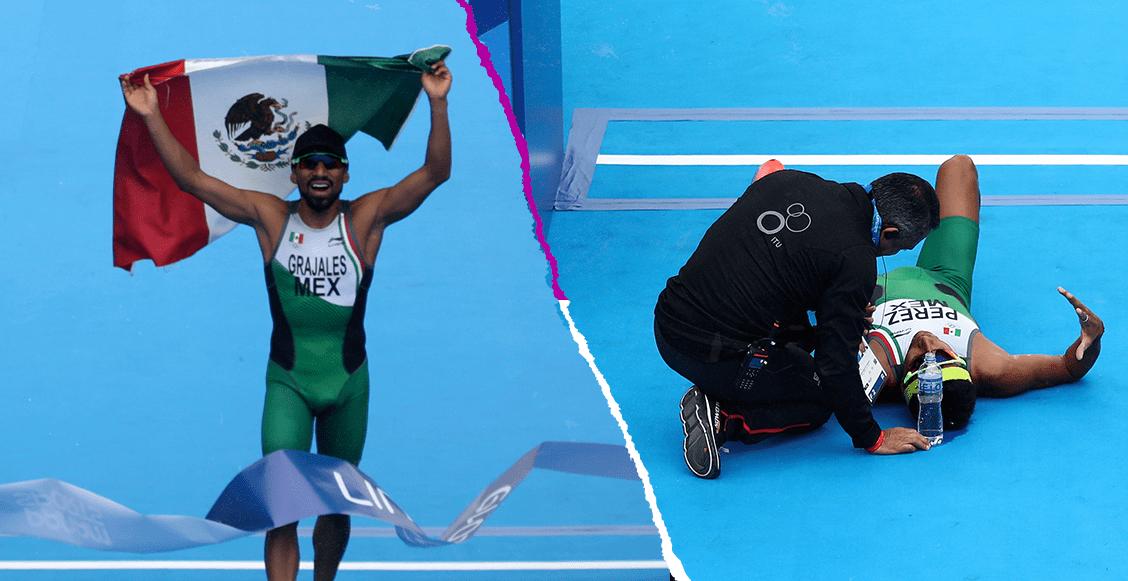 Crisanto Grajales conquista el oro el triatlón, mientras que Irving Pérez se desploma en la meta