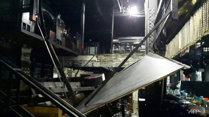 Derrumbe en un bar dejó a 8 atletas heridos y 2 civiles muertos en festejo durante Gwangju 2019