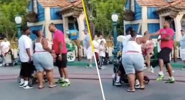 ¡Qué tristeza! Familia protagoniza una violenta pelea en Disneyland