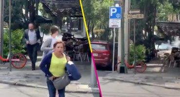 ¡Ah jijo! Una fuga de gas de una pipa en la Roma Norte provoca pánico