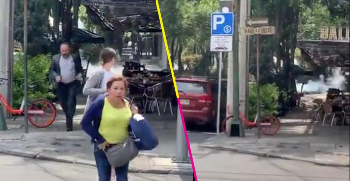 ¡Ah jijo! Una fuga gas de una pipa en la Roma Norte, CDMX, provoca pánico