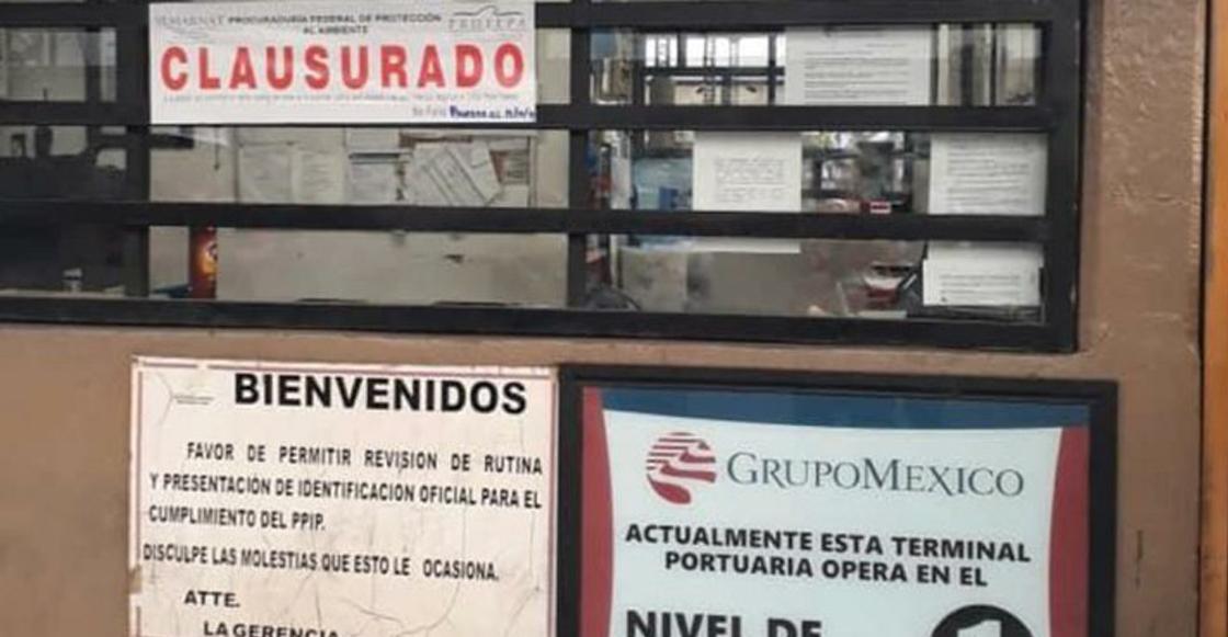 Clausuran terminal de Grupo México en Guaymas por derrame en Mar de Cortés