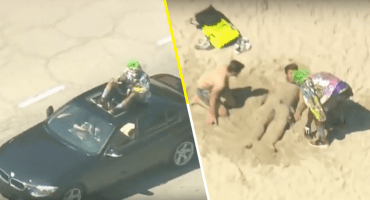 Why so serious? Un hombre armó todo un caos en Los Ángeles usando la máscara del Joker