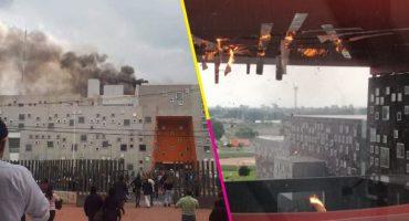 Se registró incendio en Hospital de Alta Especialidad de Zumpango; ya fue controlado