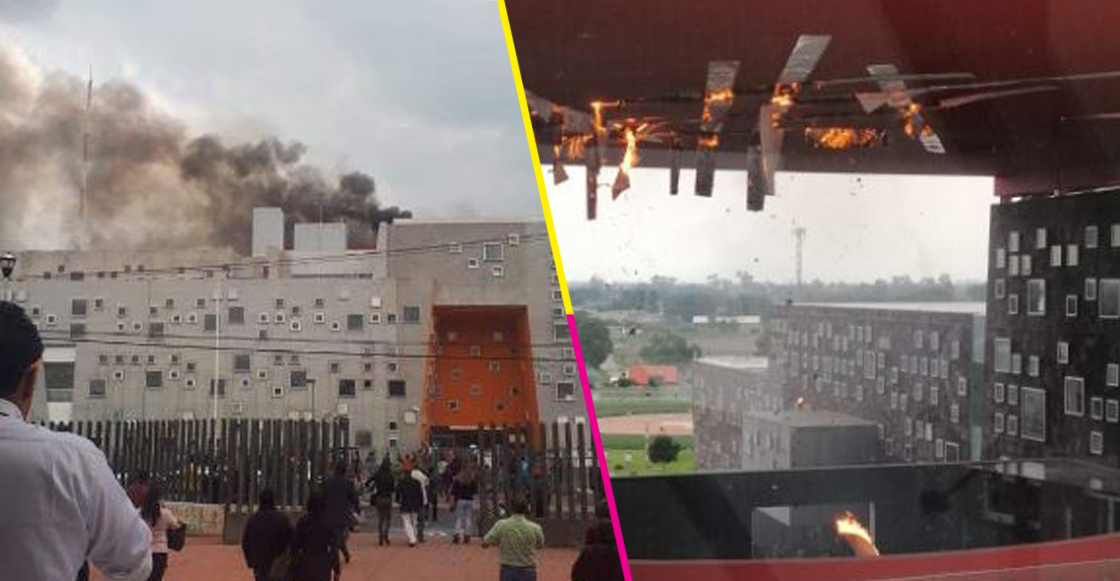 Se registra incendio en Hospital de Alta Especialidad de Zumpango