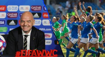 Infantino también quiere aumentar el número de equipos del Mundial Femenil