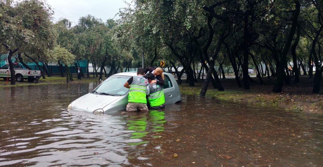 ¡Ya empezamos con las lluvias! Se inunda Periférico Sur, Insurgentes y Viaducto Tlalpan