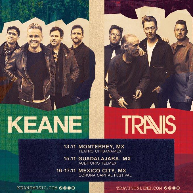 Esto es todo lo que tienes que saber de los conciertos de Travis y Keane en México