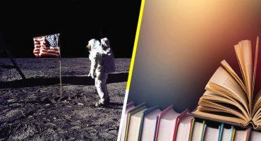 5 libros para celebrar los 50 años del hombre en la Luna 🌓