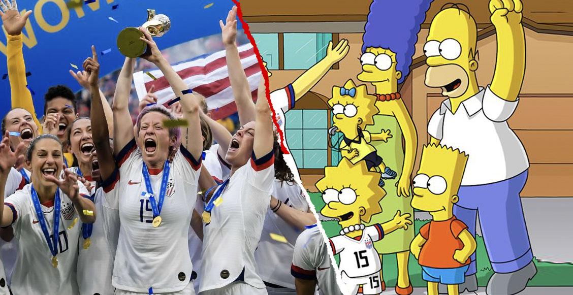 Los Simpson felicitaron a la Selección Femenil de EUA con una 'indirecta' para Trump
