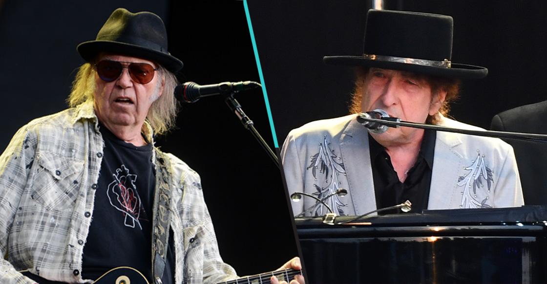 Bob Dylan y Neil Young cantaron juntos por primera vez después de 25 años