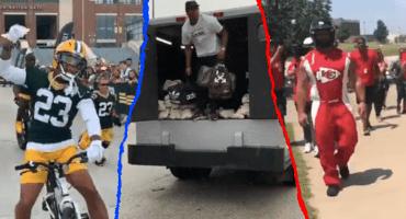 Globos aerostáticos, autos Nascar… Las extravagancias en la apertura de campos entrenamiento de la NFL
