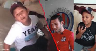 Encuentran a Diego, el niño a quien grabaron practicando el protocolo de la Liga MX