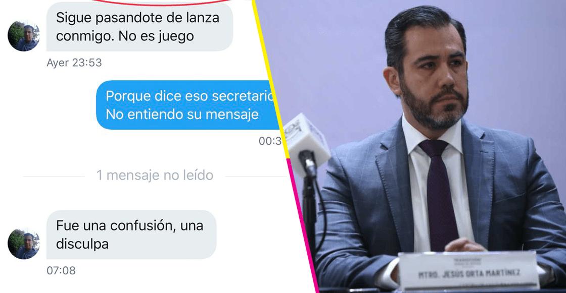 Secretario de Seguridad en CDMX amenaza a reportero por Twitter