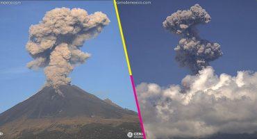 Mañana movidita: Tres explosiones del Popocatépetl; se mantiene Amarillo Fase 2