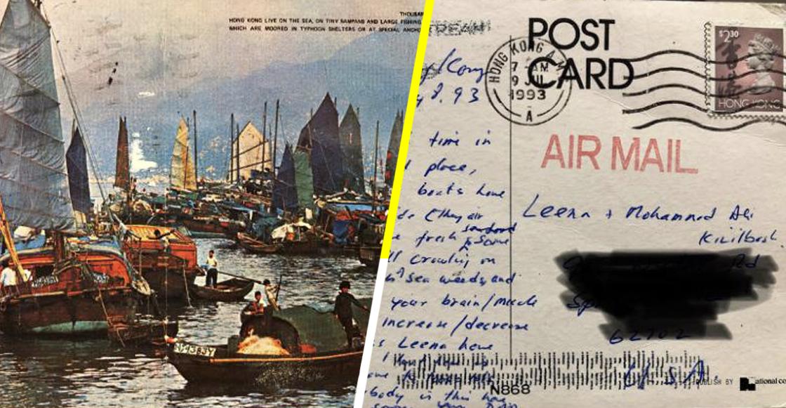 Una postal enviada desde Hong Kong llega a Estados Unidos después de 26 años