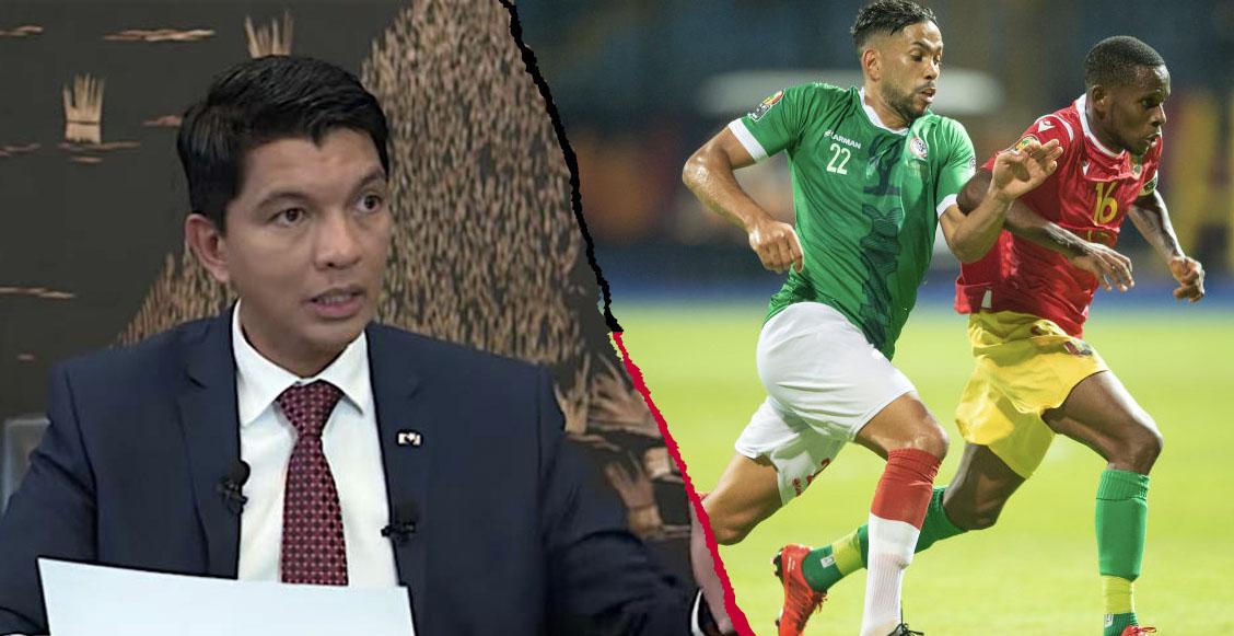 Presidente de Madagascar rentó un avión para ir con aficionados a 8vos de la Copa Africana