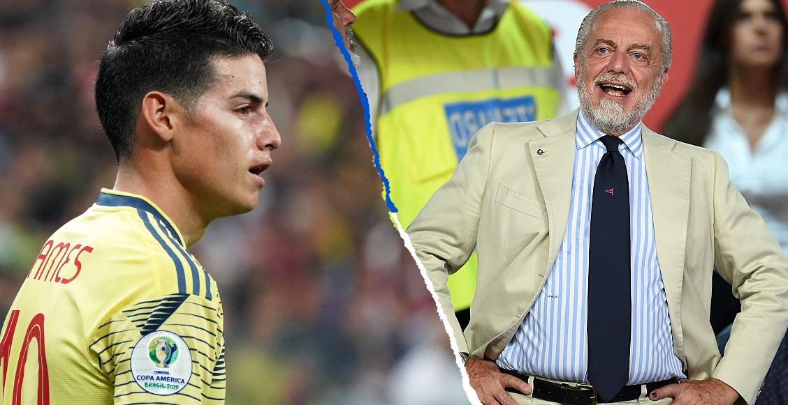Presidente del Napoli pide al Real Madrid 'hacer sacrificios' para dejar libre a James