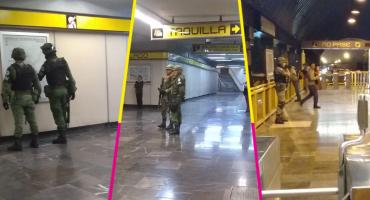 ¿Qué hacía la Guardia Nacional en el Metro de la CDMX?
