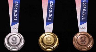 ¡Presentaron las medallas oficiales para Tokio 2020 hechas de metales reciclados!