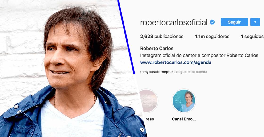 ¡Se hizo realidad! Roberto Carlos por fin logra tener un millón de amigos… en Instagram