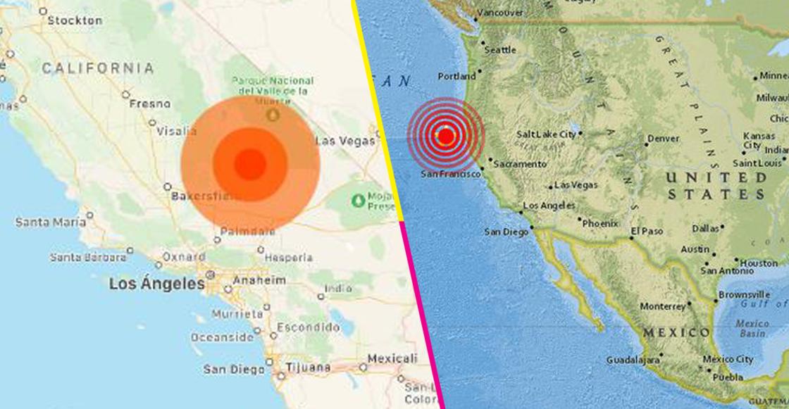 Fuerte sismo de 6,6 sacude California