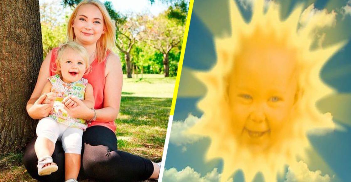 """La verdad sobre la foto del bebé junto a la chica que era el Sol en """"Teletubbies"""""""
