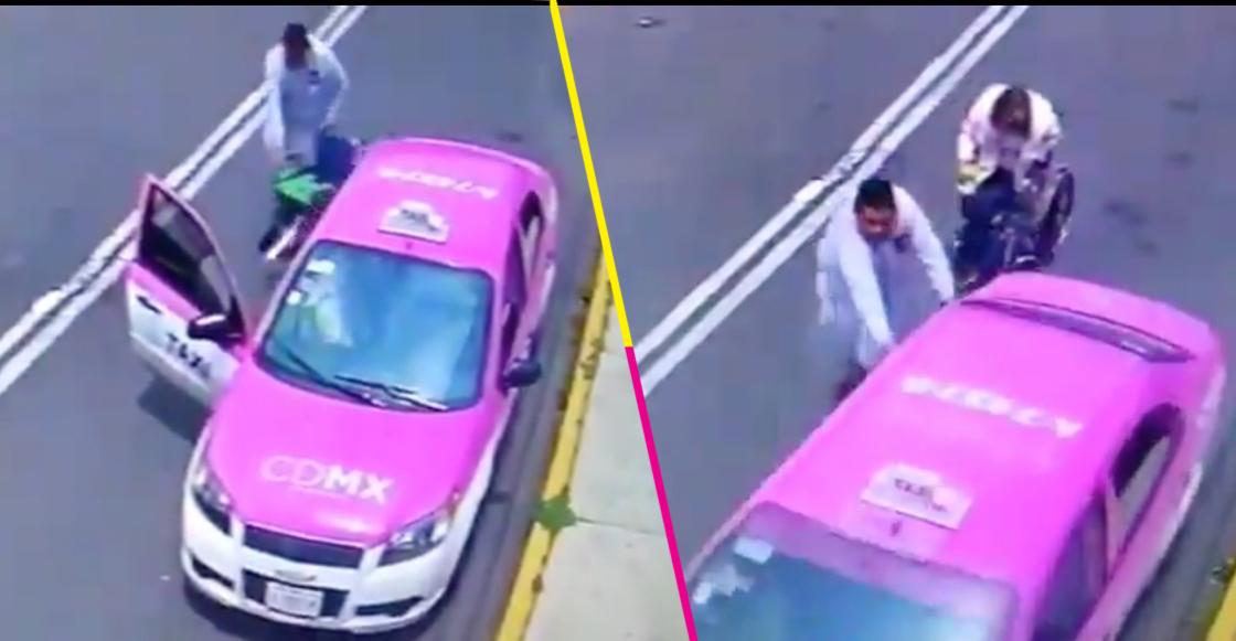 Un taxista robó a dos pasajeros en CDMX; uno era una mujer en silla de ruedas