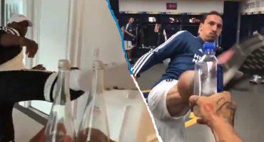 Zlatan, Pogba y otros deportistas que han logrado el #BottleCapChallenge
