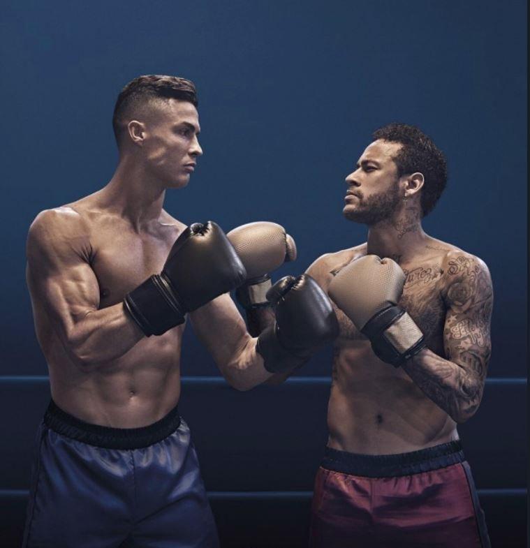 ¡KO seguro! Cristiano Ronaldo y Neymar se midieron en una 'pelea de box'
