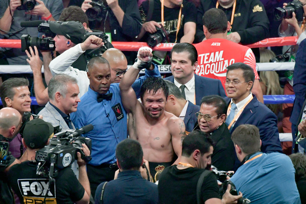 Con 40 años, Manny Pacquiao se convirtió en Campeón Mundial de peso Wélter de la AMB
