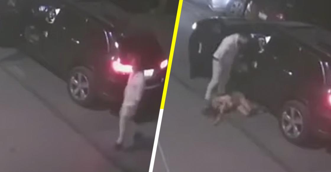 Hombre es captado en video mientras agrede y patea a la madre de su hija en Saltillo
