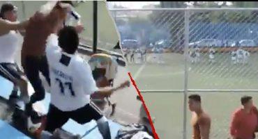 Niños pararon su partido porque se armó una 'pelea campal' en la tribuna