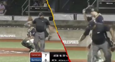 Umpire detuvo un partido de beisbol para vomitar en el campo 🤮