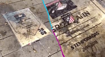 No se olvidan: Afición del 'Atleti' volvió a ensuciar la placa de Griezmann
