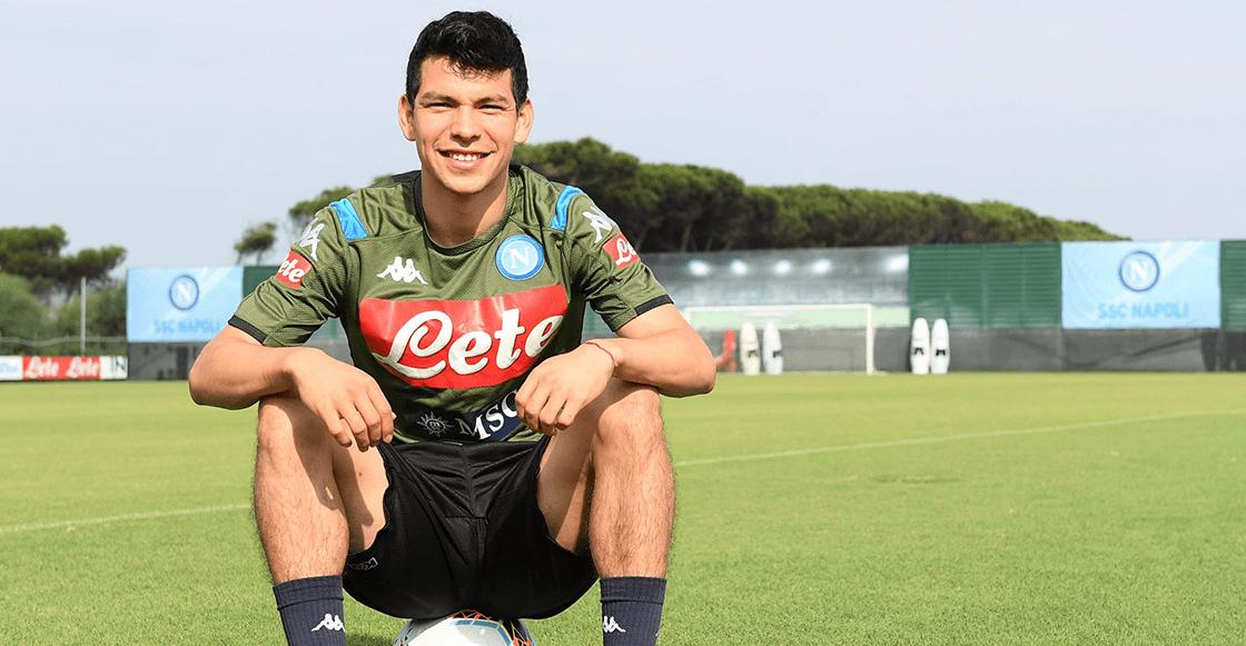 Así fue el primer día del 'Chucky' Lozano como jugador del Napoli