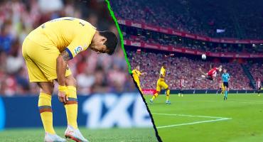 Gris debut: Luis Suárez se lesionó y Barcelona perdió con el Athletic Bilbao