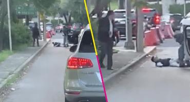 ¡Se le cebó! Frustran presunto intento de asalto contra automovilista en CDMX